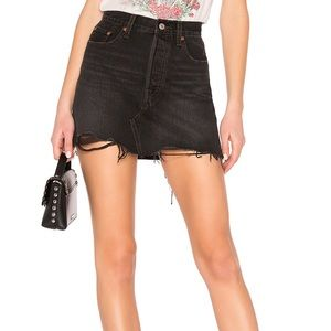 Levi's Deconstructed High Rise Skirt